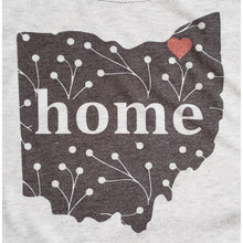 Load image into Gallery viewer, Black and White Ohio Raglan Shirt