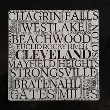 Load image into Gallery viewer, CUYAHOGA COUNTY OHIO Coasters - Laughing Girl Design