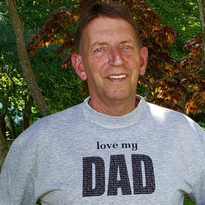Personalized Dad Sweatshirt, love my - Laughing Girl Design