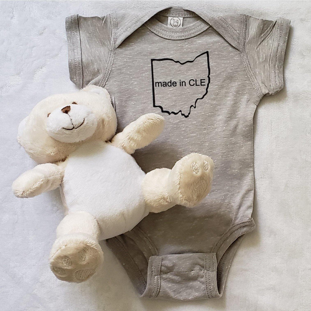 Made in CLE Infant Bodysuit - Laughing Girl Design