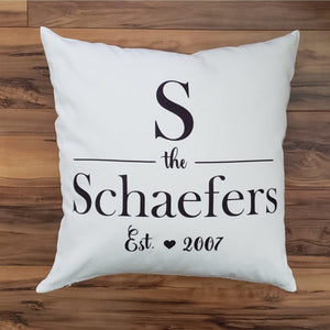 Monogram Pillow - Classic Square Pillow - Laughing Girl Design