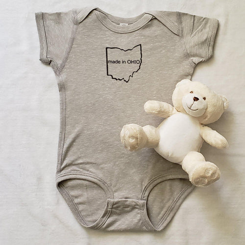 Made in OHIO Infant Bodysuit - Laughing Girl Design