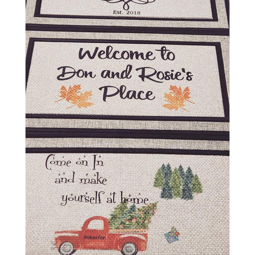 Welcome Mat - Just for you! - Laughing Girl Design