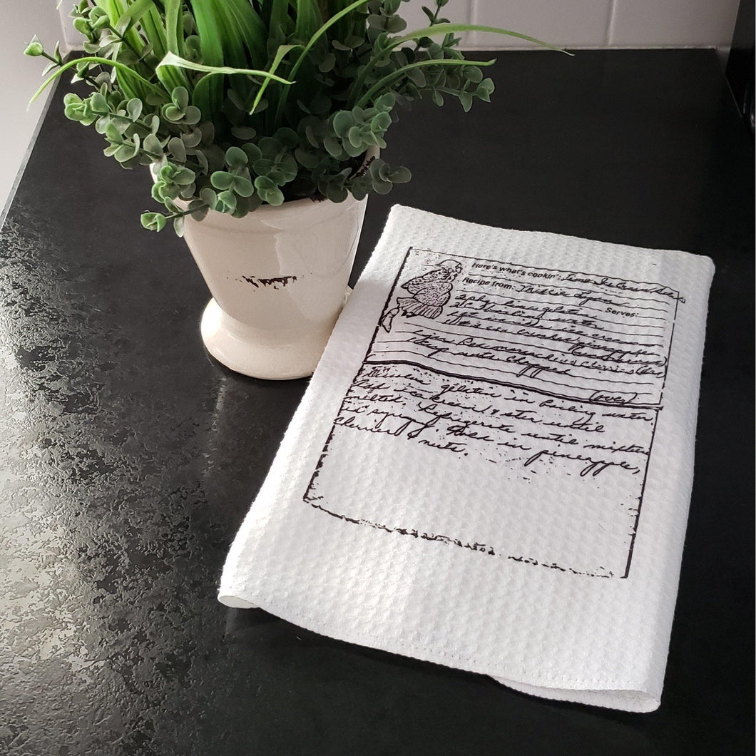 Recipe Towel, Heirloom recipe Towels - Laughing Girl Design