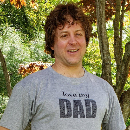Personalized Dad T Shirt, love my - Laughing Girl Design