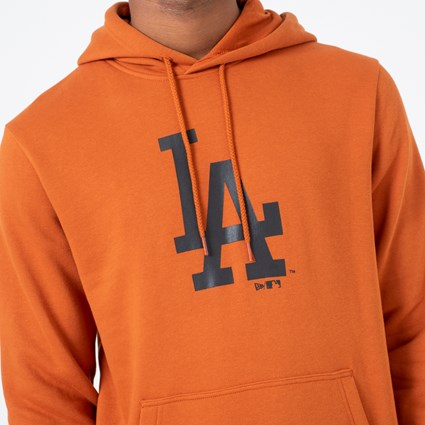 sudadera los angeles new era naranja