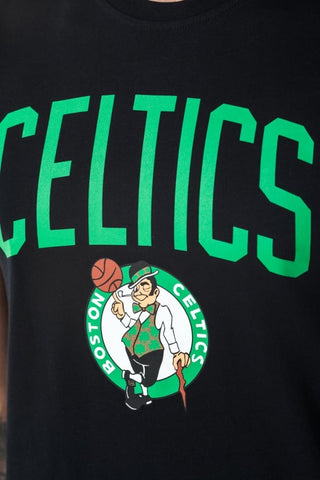 Camiseta Boston Celtics New Era Básica Negra logo NBA
