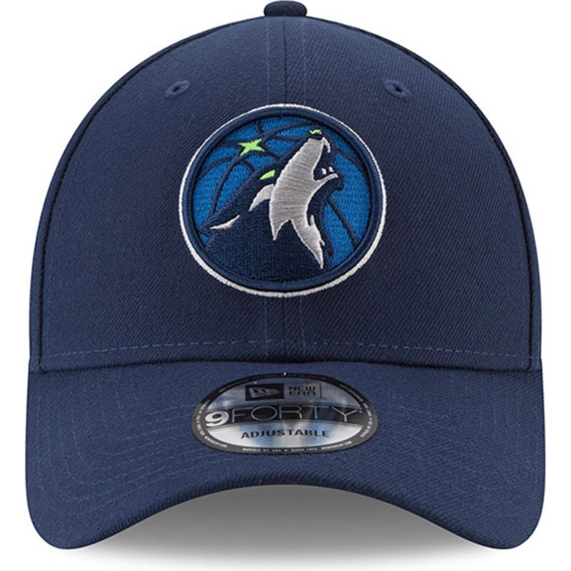 Gorra ajustable 9FORTY New Era The League de Minnesota Timberwolves NBA Azul Marino 1