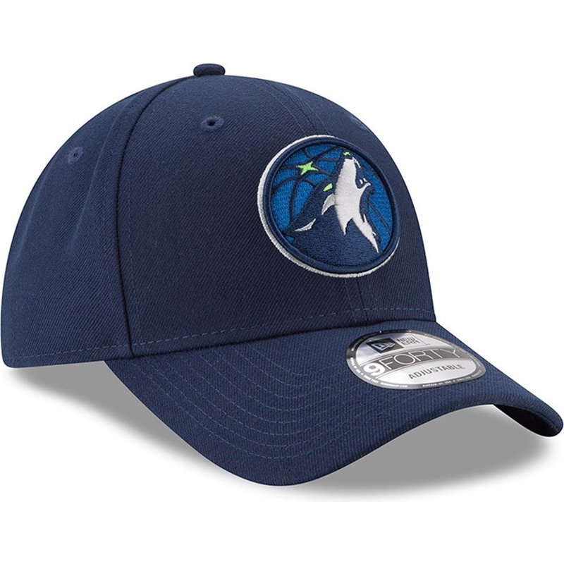 Gorra ajustable 9FORTY New Era The League de Minnesota Timberwolves NBA Azul Marino 2