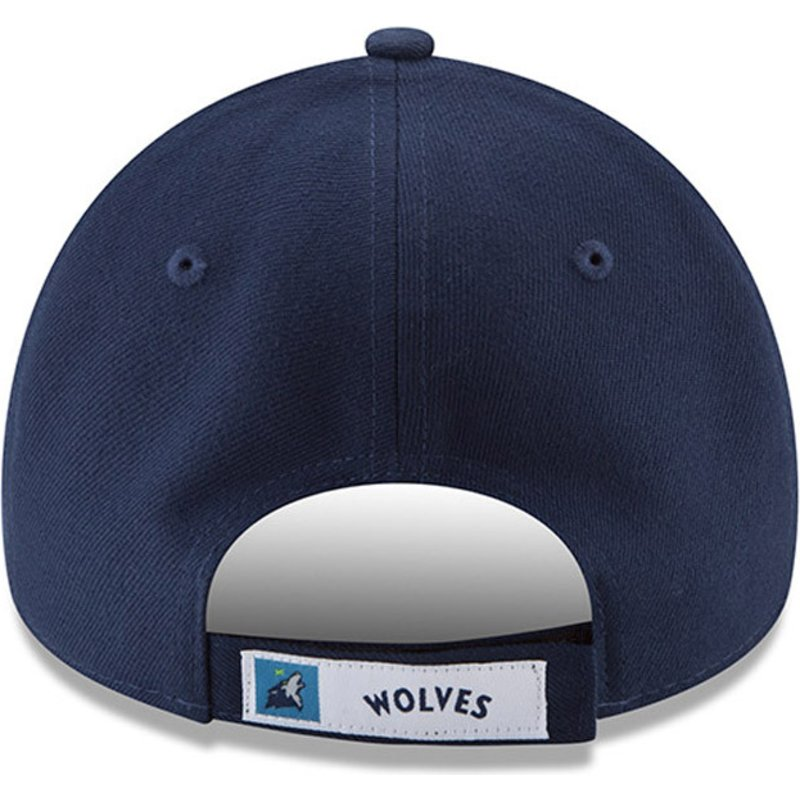 Gorra ajustable 9FORTY New Era The League de Minnesota Timberwolves NBA Azul Marino bck