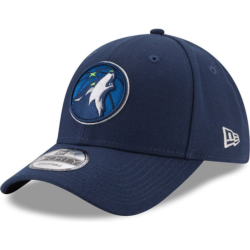 Gorra ajustable 9FORTY New Era The League de Minnesota Timberwolves NBA Azul Marino