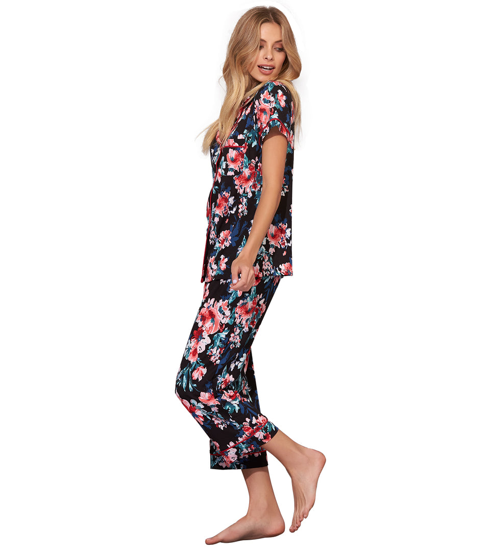 Ember Crop Pant Set in PAINTED FLORAL