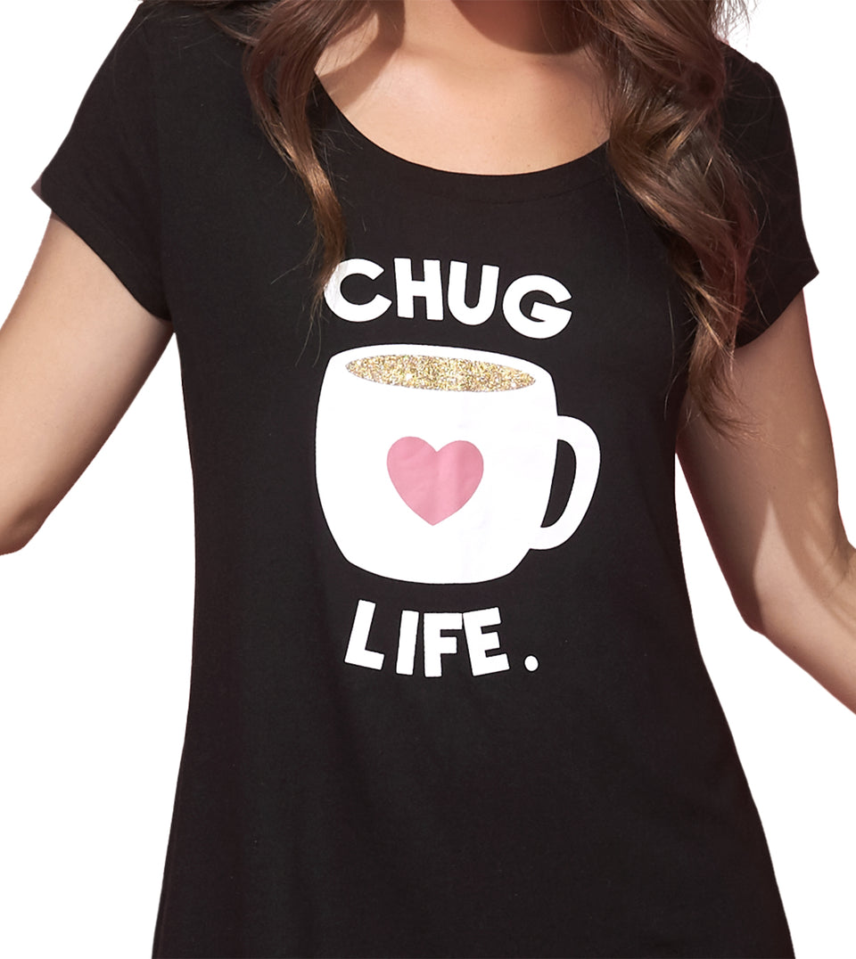 Candice Sleep Shirt in CHUG LIFE