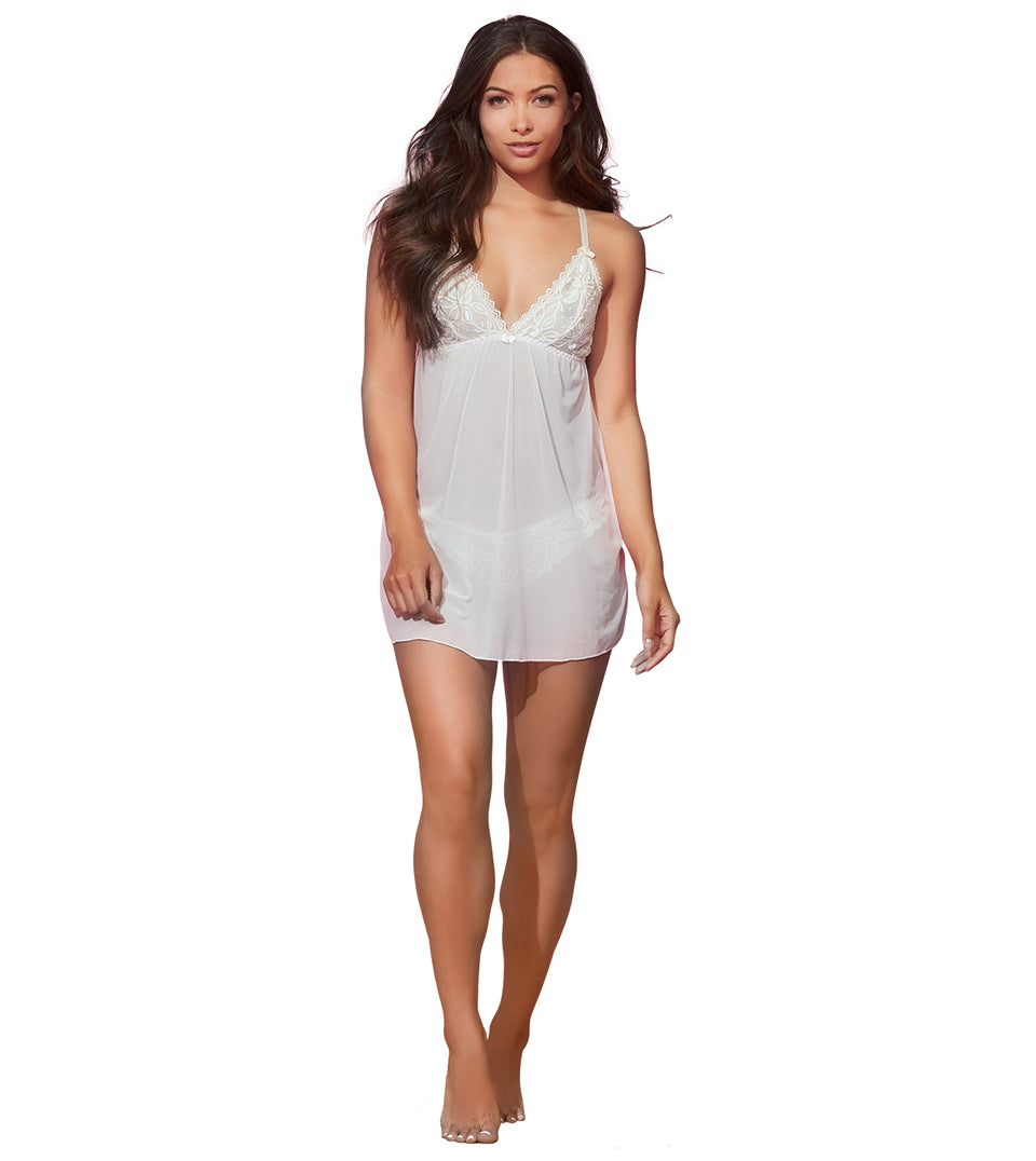 Color Scoop Babydoll Set in Barely Pink Sand Dollar