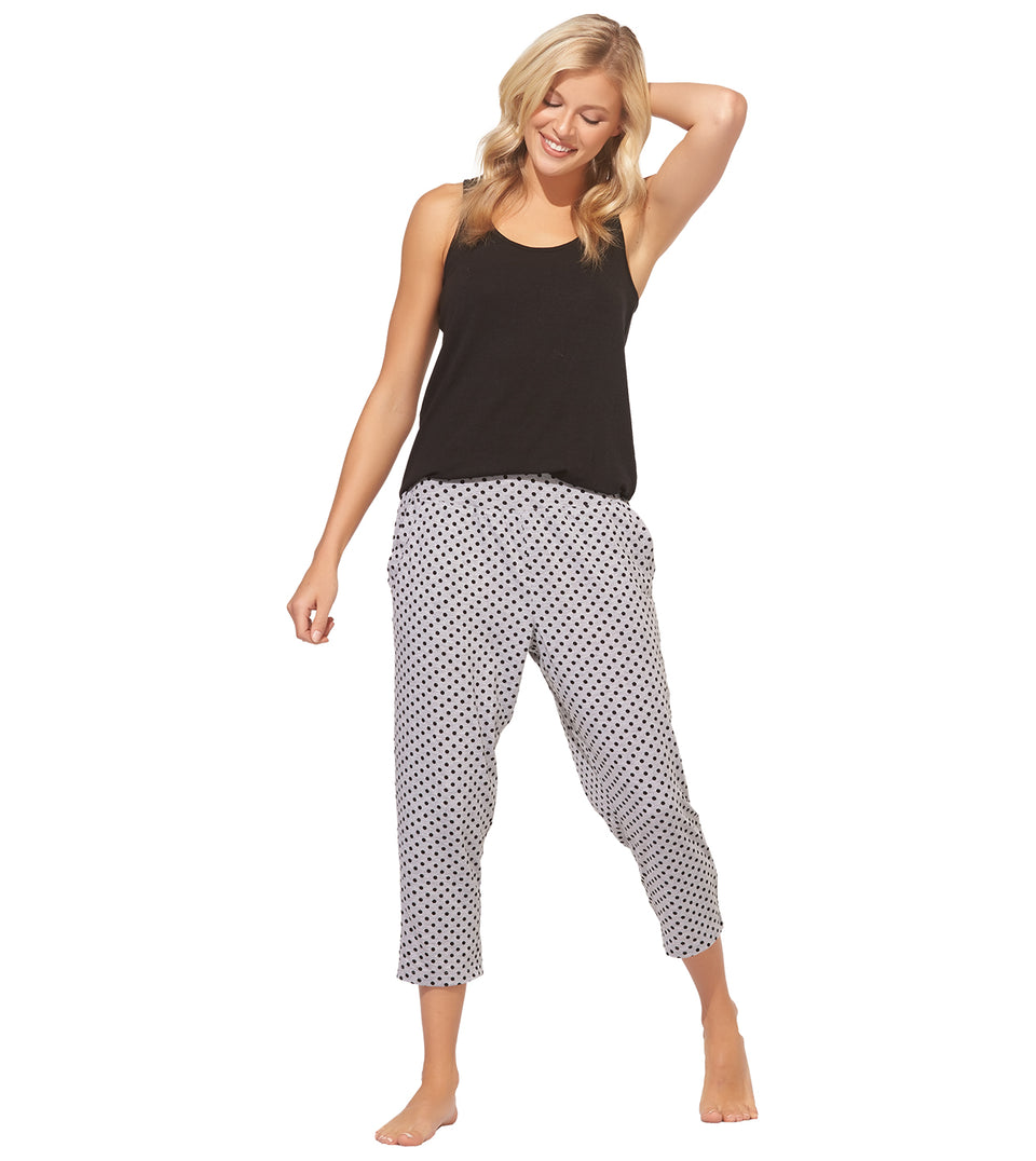 Nia Crop Pant Set in POLKA DOT