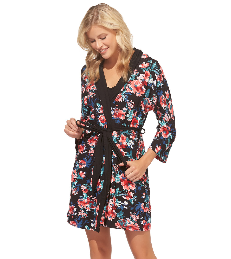 Kimmy Chemise Robe Set in PAINTED FLORAL
