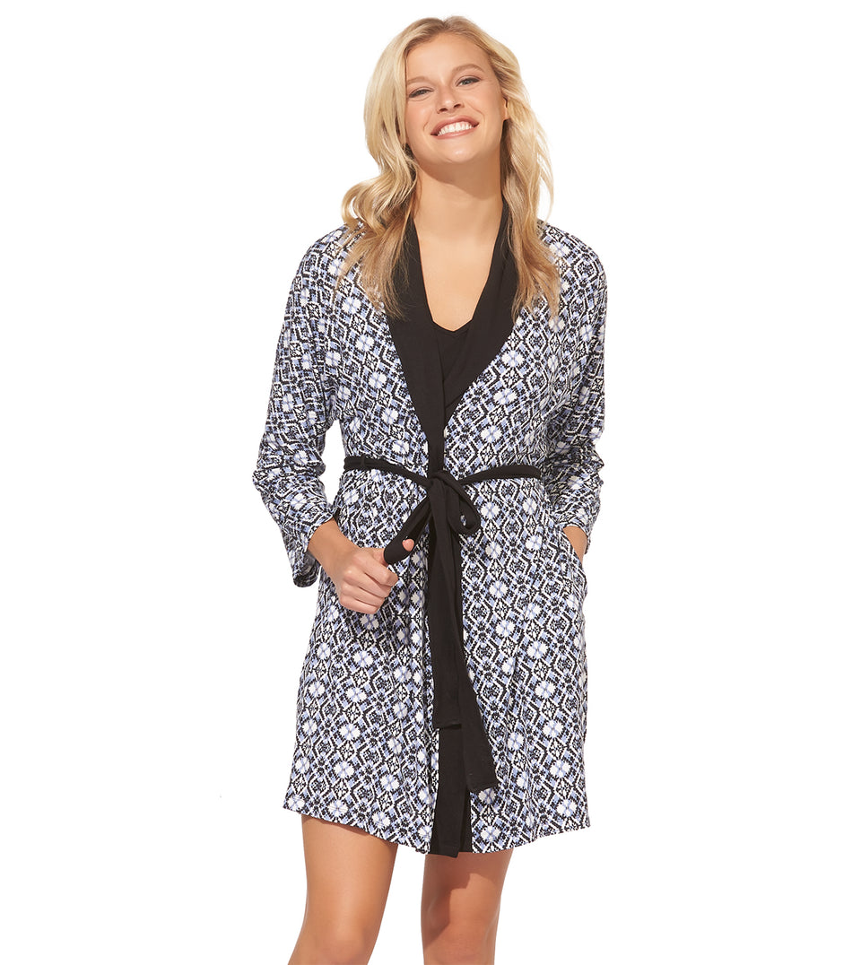 Kimmy Chemise Robe Set in FAIRE ISLE DOT