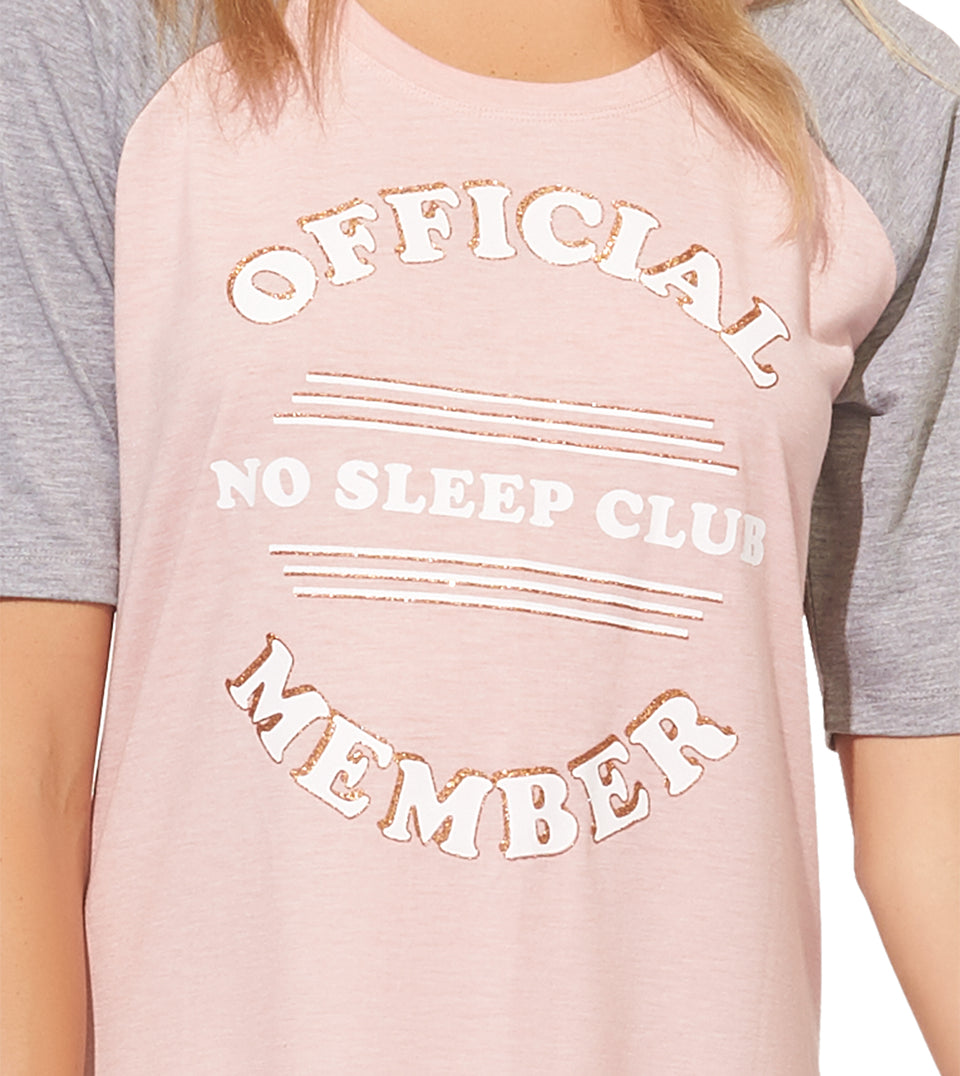 Reggie Sleep Shirt in NO SLEEP MEMBER