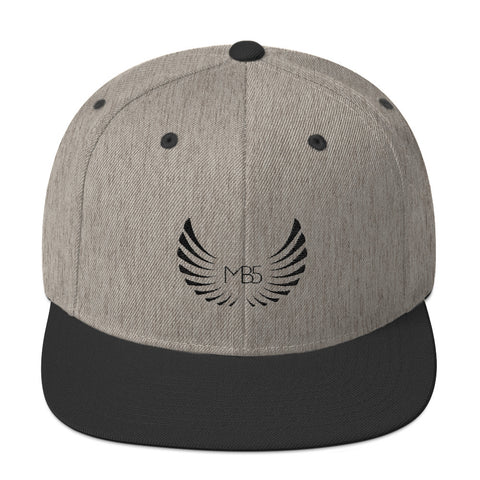 MB5 Snapback Hat - Heather/Black