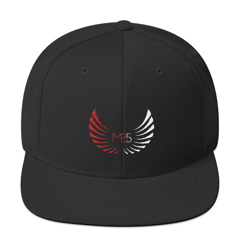 MB5 Snapback Hat - Black/Red/White