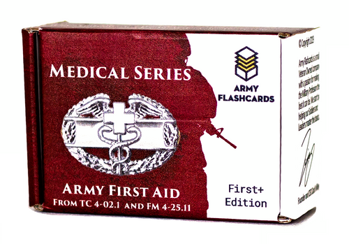 Medical Series: Army First-Aid | TC 4-02.1 and FM 4-25.11 | Army Flashcards