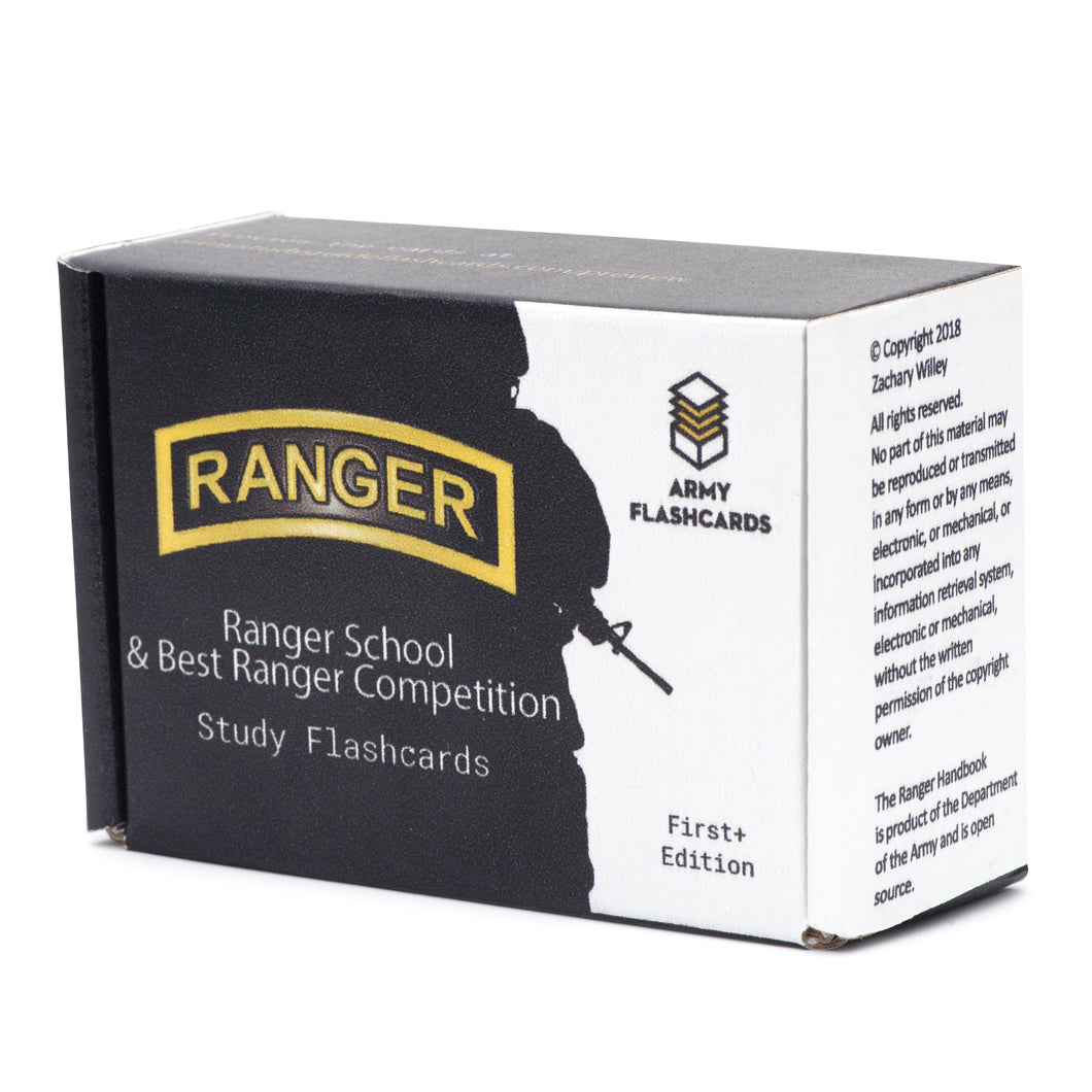 Ranger School / Best Ranger Competition Flashcards - Army Flashcards