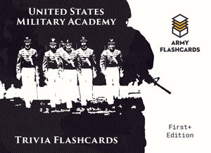 *New* United States Military Academy Trivia Flashcards- Preorder - Army Flashcards
