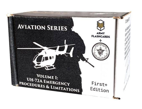 Army Flashcards- UH-72A Lakota Helicopter Emergency Procedures and Limitations | Every Procedure and Limitation and Associated Warning and Caution | Perfect for US Army Flight School | Made in USA
