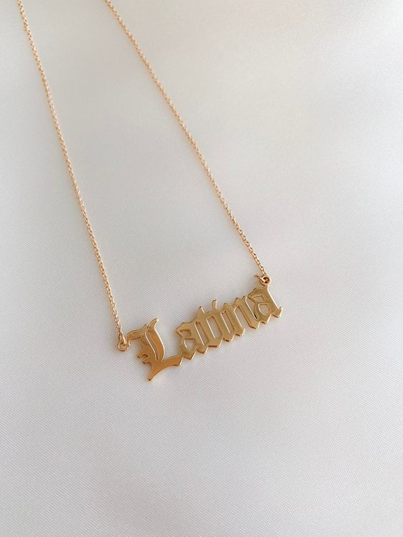 Latina Old English Style necklace / gold dipped - Sugar Rose