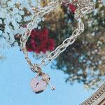 Heart Lock Chain Necklace / 24k Gold Dipped