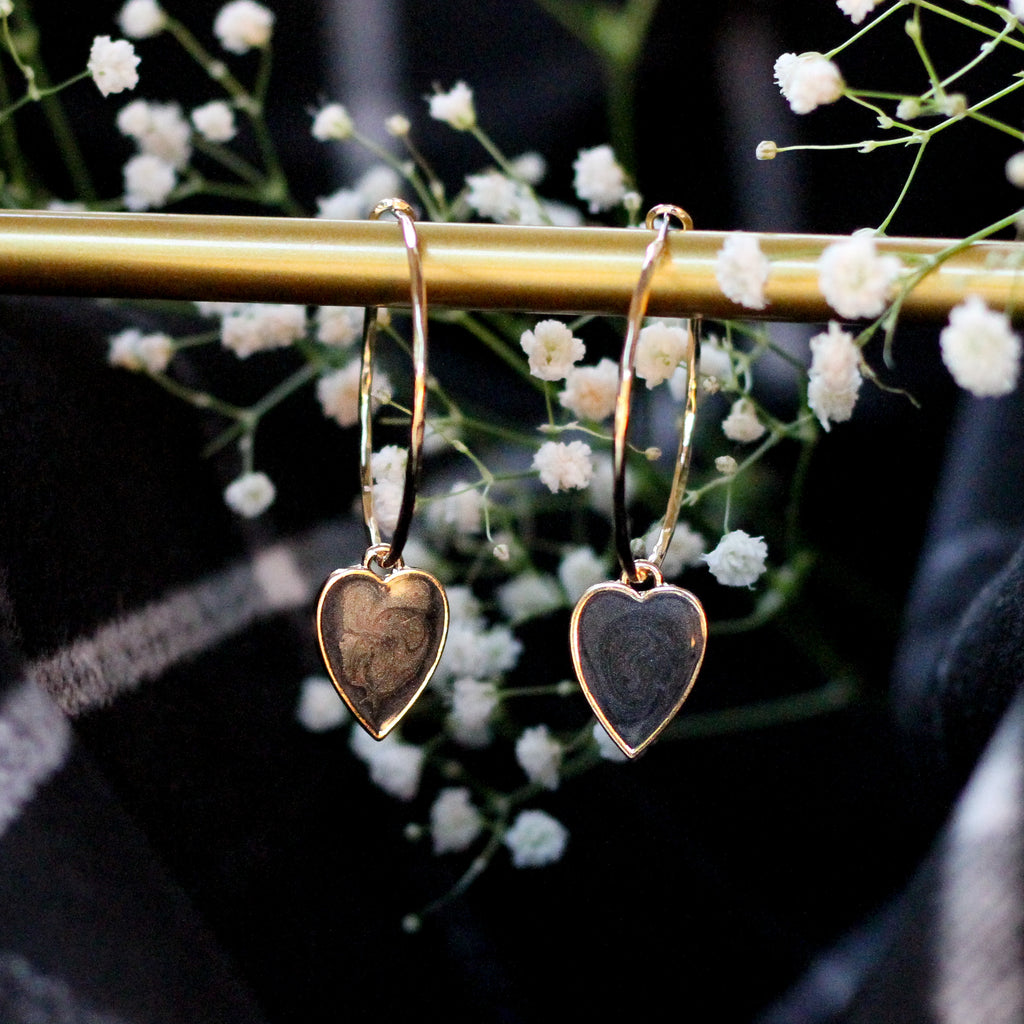 NEW Heart Drop Hoop Earrings