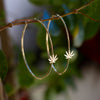 Cannabis Hoop Earrings - Sugar Rose