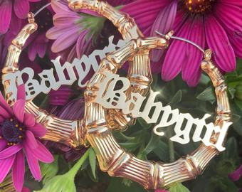 Babygirl Bamboo Hoops - Sugar Rose