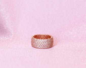 Rose Gold Ring Band - Sugar Rose