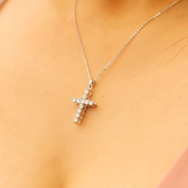 Cross Necklace - Sugar Rose