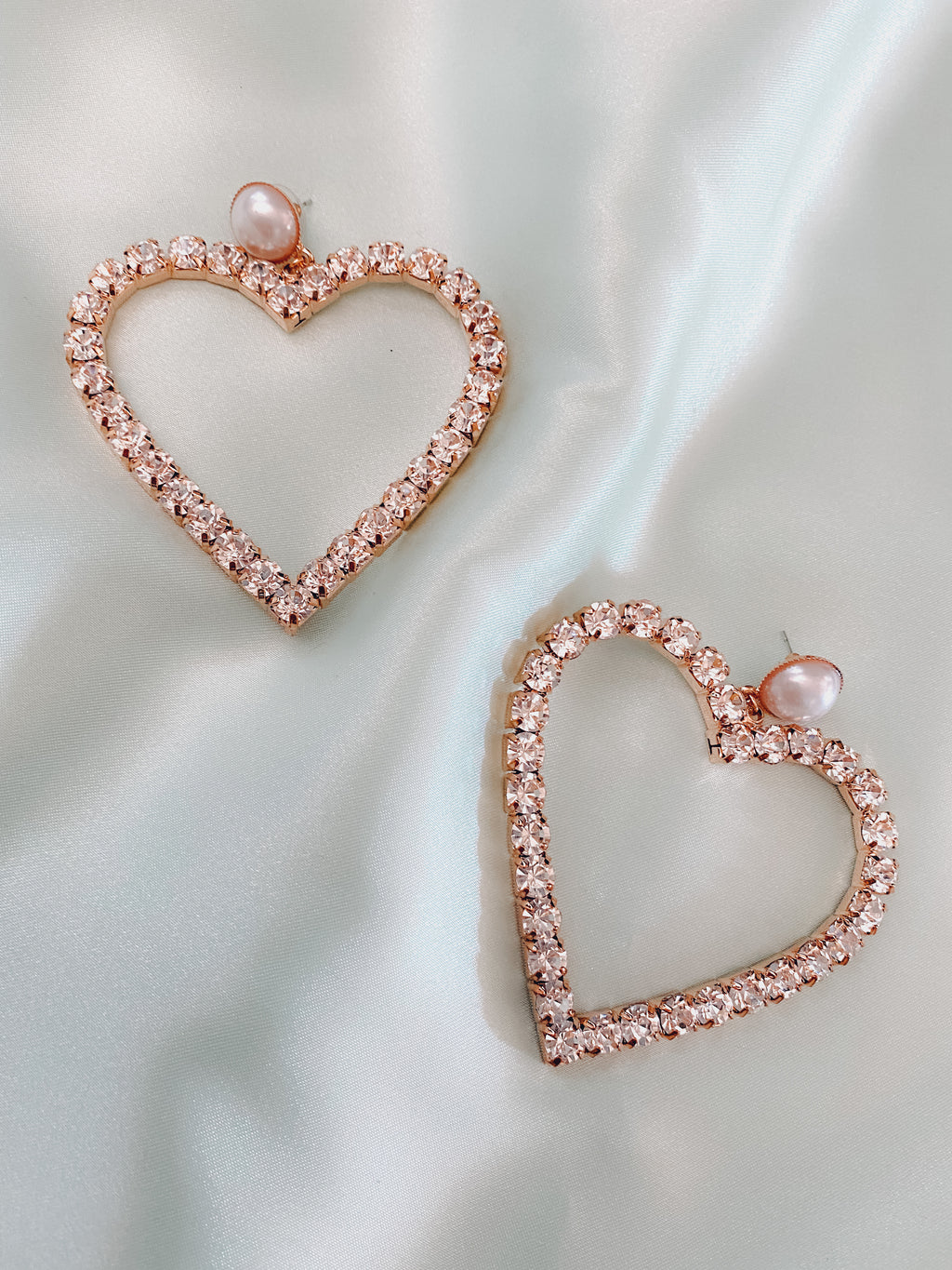 Romantic Heart earrings - Sugar Rose