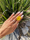 Floral Dainty Ring - Sugar Rose