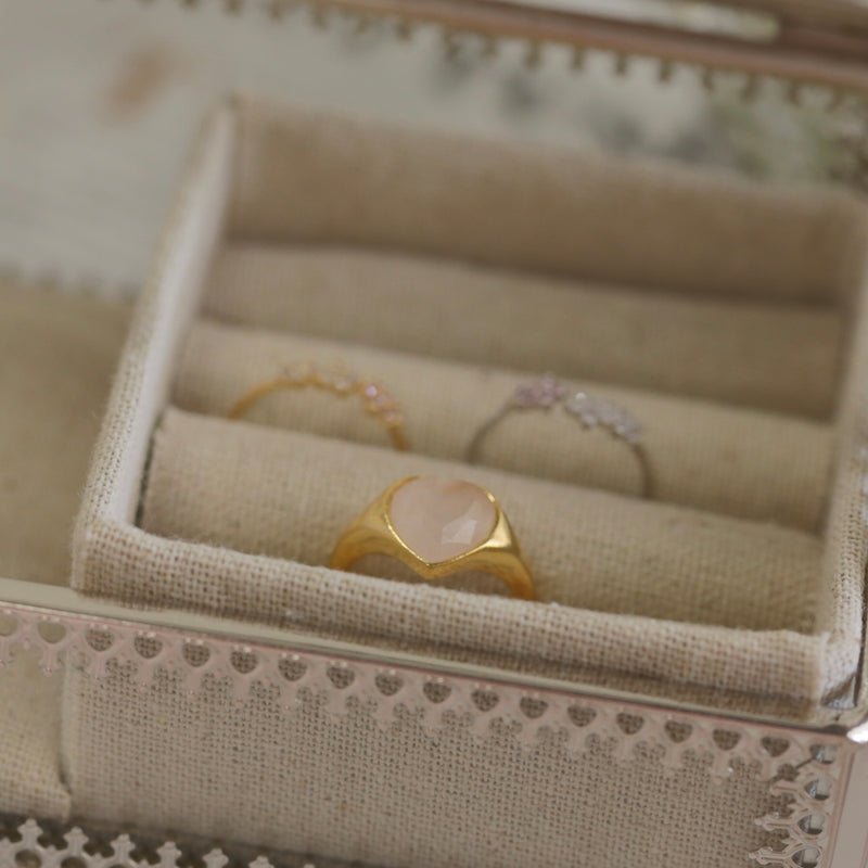 Gracie Heart Stone Ring