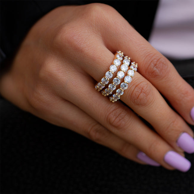 Classic Eternity Ring Bands. Stackable Ring - Sugar Rose