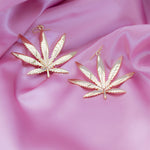 Cannabis Jewelry Dangle Drop Earrings - Sugar Rose