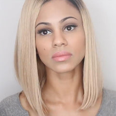 Lace Bob Hair Wig Blond/Pink - Bravozone