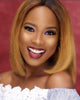 Image of Lace Wigs Bright Brown Lace Front Silky Wig - Bravozone