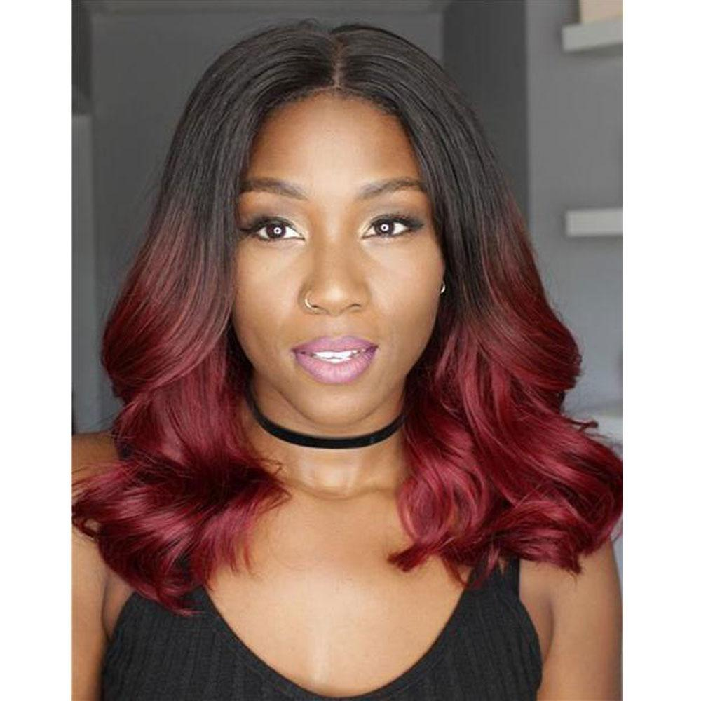 Lace Wigs Hair Sexy Ombre Wavy Lace Wig - Bravozone