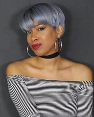 Lace Wigs Cut Perfection Full Lace Gray Wig - Bravozone