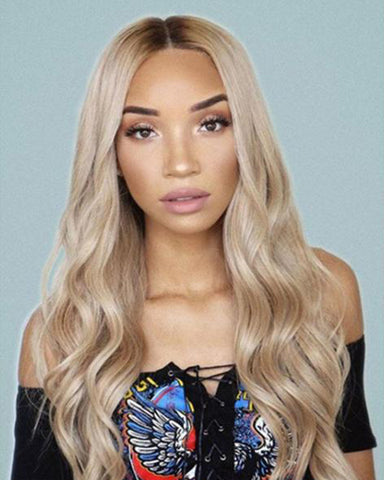 Lace Wigs Deep Wave Front Lace Blonde Wig - Bravozone