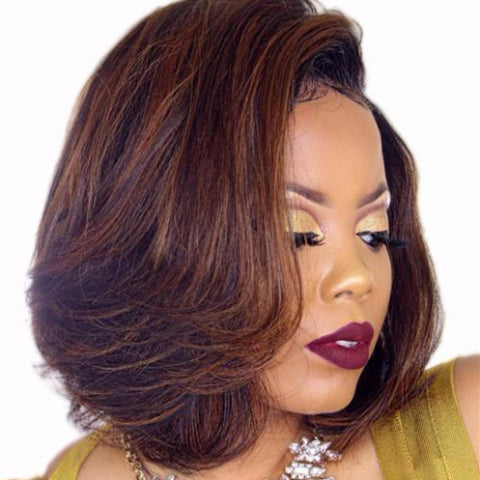 Lace Wigs Highlight Bob Short Lace Front Wig - Bravozone