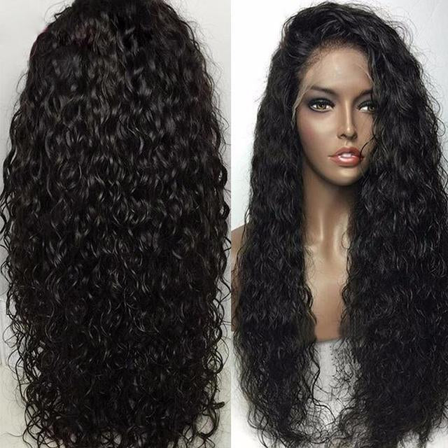 Lace Wigs PRE Plucke Water Wave With Babyhair - Bravozone