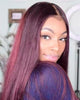 Image of Lace Wigs Density Maroon Color Lace Front Wig - Bravozone
