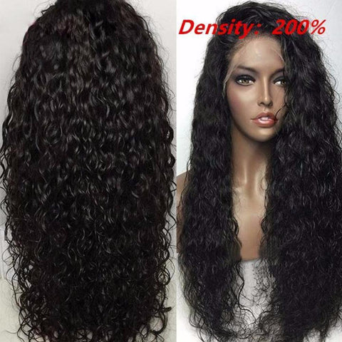 Lace Wigs Water Wave Hair Lace Frontal Wig - Bravozone