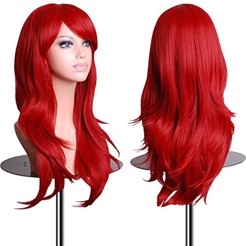 28 Inch Cosplay Wig For Women With Wig Cap and Comb - Bravozone
